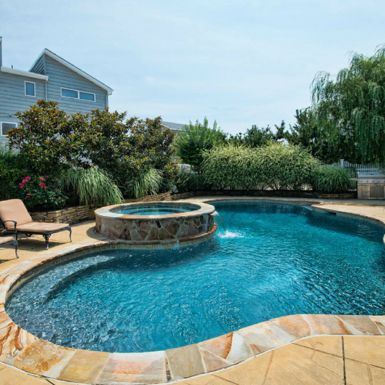 Gunite Fiber Glass Pools Spas David Ash Jr Landscape